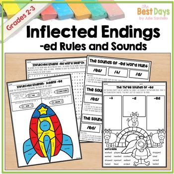 Inflected endings -ed and the Sounds of -ed Student Notebook and Work Pages