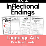 Inflectional Endings Common Core Practice Sheets L.1.4.C