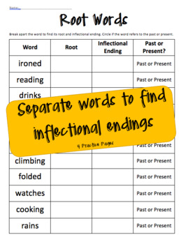 Inflection Endings: Past and Present