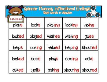Inflectional Ending Fluency-ed, ing, es
