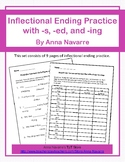 Inflectional Ending Practice with -s, -ed, & -ing