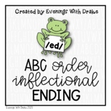Inflectional Ending -ed ABC Order Activity Printables