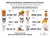 Inflectional Ending -ed Word Sort and Game
