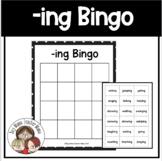 Inflectional Ending -ing ING BINGO