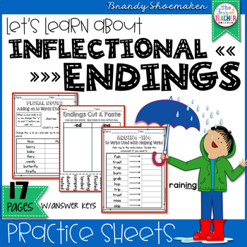 Inflectional Endings Printables