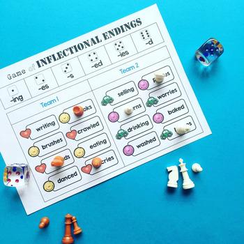 Inflectional Endings Center Activities