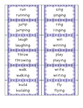 Inflectional Endings - Common Core Standard RF.1.3f - Posters and Actvities