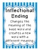 Inflectional Endings - Common Core Standard RF.1.3f - Post