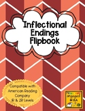 Inflectional Endings Flipbook - Grammar, ELA, ARC level 1R & 2R