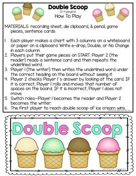 Inflectional Endings Game {Double Scoop}