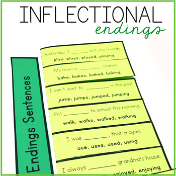 Inflectional Endings Interactive Notebook