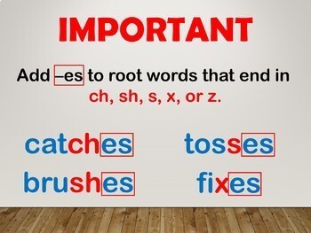 Inflectional Endings Interactive PowerPoint Lesson