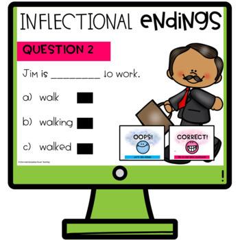 Inflectional Endings Interactive Quiz