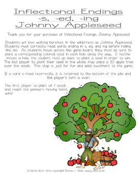 Inflectional Endings: Johnny Appleseed Board Game