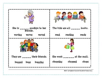 Inflectional Endings (Levels 1 and 2)