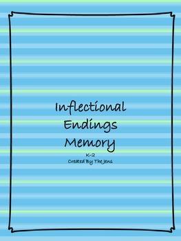 Inflectional Endings Memory K-2 (***BONUS Inflectional Endings Bingo***)
