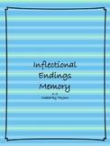 Inflectional Endings Memory K-2 (***BONUS Inflectional End