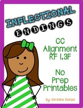 Inflectional Endings {No Prep Printables}
