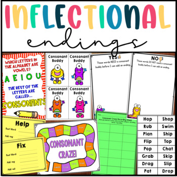Inflectional Endings Pack: Adding -ed, -ing, and Doubling Consonants