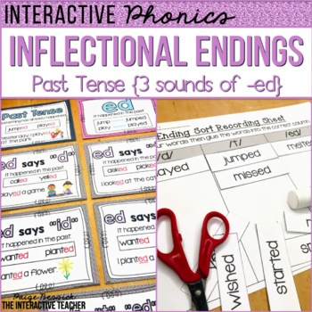 Inflectional Endings: Past Tense {3 sounds of -ed}