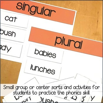 Inflectional Endings: Plural Words by Paige Bessick - Our Elementary ...