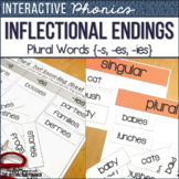 Inflectional Endings: Plural Words, Posters, Sorts and Worksheets