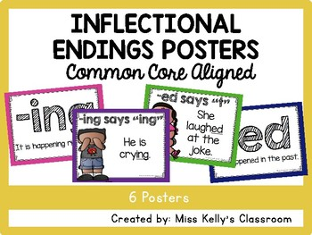 Inflectional Endings Posters (Common Core Aligned)