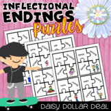 Inflectional Endings Puzzles - DOLLAR DEAL