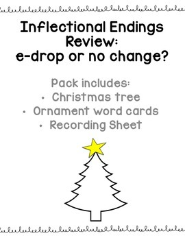 Inflectional Endings Review: No change or e-drop