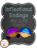 Inflectional Endings Task Cards - Words with Long Vowels