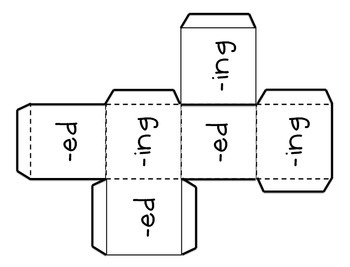 Inflectional Endings Toss (-ed and -ing) A Literacy Center