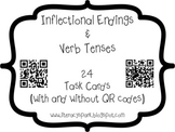 Inflectional Endings & Verb Tenses Task Cards