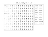 Inflectional Endings Word Search