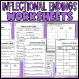 Inflectional Endings Worksheets: ing, ed, s: Sorts, Cloze, and more!