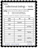 Inflectional Endings (-ed and -ing)