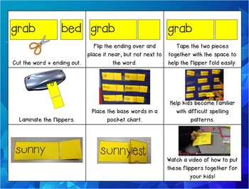 Inflectional Endings -ed and -ing FLIPPERS