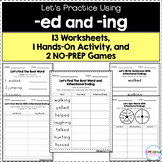 Inflectional Endings (-ed and -ing) - Worksheets, Games, and Hands-On Activity