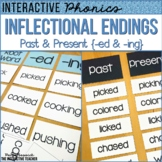 Inflectional Endings ed, ing, Past & Present Tense Sorts & Activities