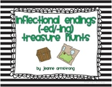 Inflectional Endings (ed/ing) Treasure Hunts
