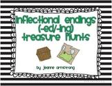 Inflectional Endings (ed/ing) Treasure Hunts