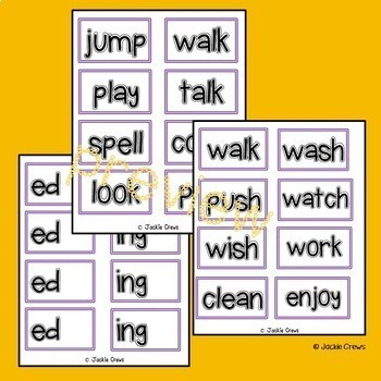 Inflectional Endings for Beginners: Guided/Independent Practice Center
