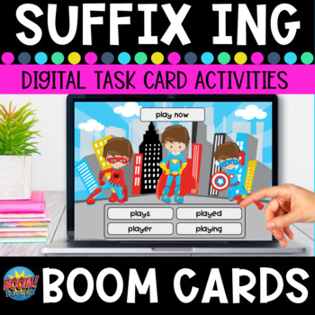 Inflectional Endings -ing Boom Cards