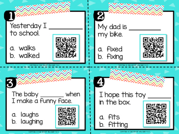 Inflectional Endings with QR Codes (-ing, -ed, and -s)