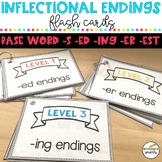 Inflectional endings - flash cards