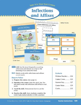 Inflections and Affixes (Take It to Your Seat Centers: Common Core Language)
