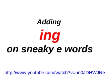 Inflections on Sneaky E Words