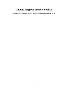 Influence booklet worksheets