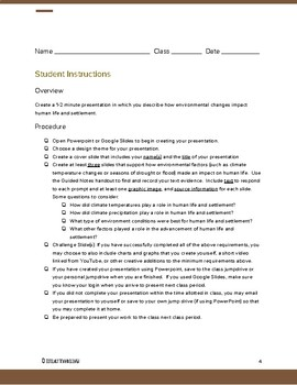 Influences on Civilization Presentation Lesson Plan