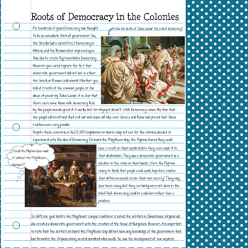 Influences on Democracy in the Colonies Complete Lesson