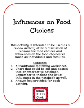 Influences on Food Choices